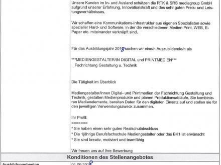 Photograveur – Poste à pourvoir en apprentissage transfrontalier à Offenbourg